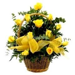 Жълта Звезда - кошница с цветя