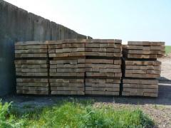 Дървени дъбови релсови траверси