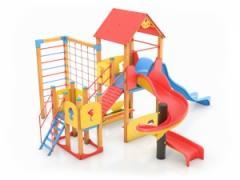 D15 Детски комплекс с пързалка и катерушка