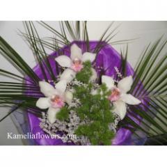 Букет от качествени орхидеи, опаковка, татарика