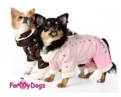 Нови стилни и топли шуби за кучета с кожена подплата и с красиви декорации