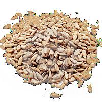 Kernels of sunflower seeds raw