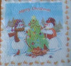 Paper napkins for holidays
