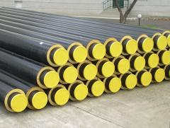 Materials heat-insulated for pipelines