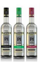 Руска водка Платинум чиста, лайм и червена