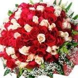 Огромен букет от 101 рози