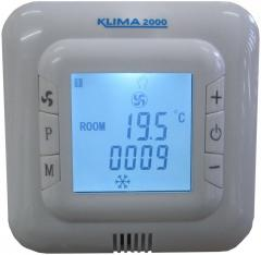 UN-01 PRG стаен термостат за управление на вентилаторни конвектори със седмичен програматор