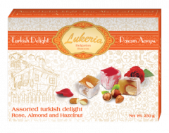 ASSORTED TURKISH DELIGHT - ROSE, ALMOND AND