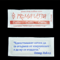 Бяла кристална захар в пакетчета от 2 гр. x 1000 бр. плик
