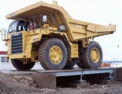 Везни за минни камиони
