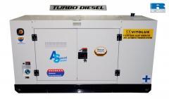 110 KW Шумозаглушени Трифазни TURBO Дизелови Генератори VITOLUX с водно охлаждане и пълна автоматика