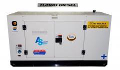 37 KW Шумозаглушени Трифазни TURBO Дизелови Генератори VITOLUX с водно охлаждане и пълна автоматика