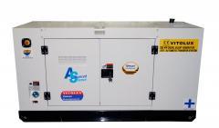 26 KW Шумозаглушени Трифазни Дизелови Генератори VITOLUX с водно охлаждане и пълна автоматика