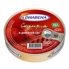 Скумрия в доматен сос 160 гр.
