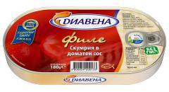 Филе скумрия в доматен сос 180 гр.