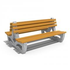 Двойна бетонна пейка - Модел 158