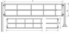 Телескопична врата за животновъдни ферми - T3-1/2M