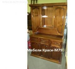"""Шкаф за трапезария-"""" Монако""""- масив в цвят. Наличен!"""