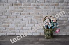 Бели гипсови декоративни тухли