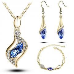 Austrian Crystal Drop Jewelry Sets Women Gift  #1