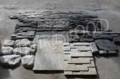Сиви облицовки, камък и тухла