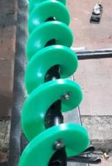 Auger spiral plastic