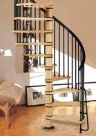 Спирални интериорни стълби от метал