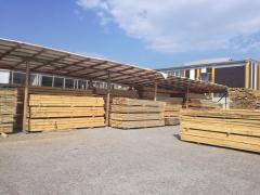 Дървен материал, пелети и бетонови изделия.