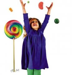 Детска класическа рокля - синя перуника Piccalilly