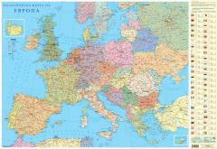 Стенна карта на Европа, политическа