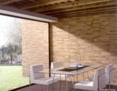Facing ceramic tile for walls