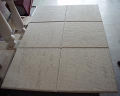 Tile from natural limestone