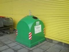 Контейнер за разделно събиране на отпадъци с обем