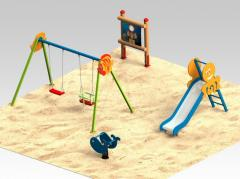 Children's slides for playgrounds