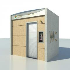WC cabins, street