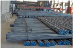 Reinforcing steel, die-rolled section