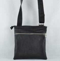 Мъжка чанта черна кожа