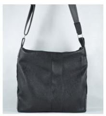 Дамска чанта 906 черна кожа + сива кожа