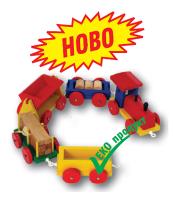 Водоразредима боя за дървени детски играчки