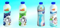 MY DAY Пастьоризирано прясно мляко  - РЕТ бутилки