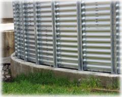 Стена на силоза от ламарина