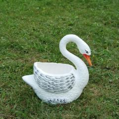 Керамична кашпа Лебед