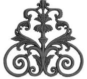 Balusters, carvings, ornamental patterns, mosaics