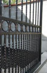 Външна ограда кована