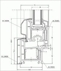 Дограма PVC с алуминиева капачка