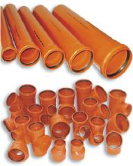 Тръби и фасонни части от пластмаси