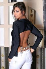 Блуза с колие от перли на гърба 4254