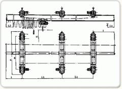 Кран висящ триопорен с електротелфер