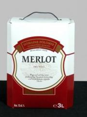 Червено вино Мерло 3,0 л. кутия