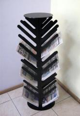 Racks for newspapers and magazines